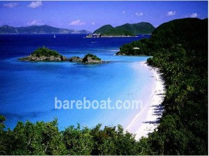 Trunk Bay Virgin Islands - one of many bays you will experience on your Caribbean bareboat yacht charter