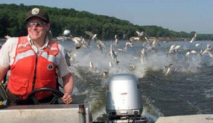 Large, aggressive, prolific, ravenous Asian Carp are disrupting the food chain in the Great Lakes and could destroy the tourism and recreational value of the area.