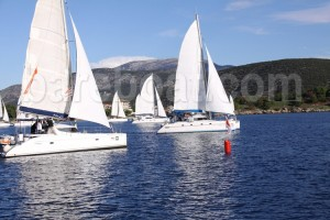 Sailing regatta catamarans Athens Greeece