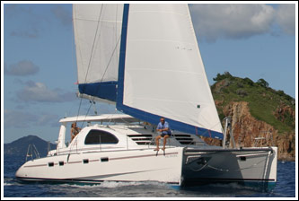 Robertson and Caine 4300 bareboat catamaran profile