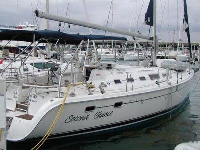 The Hunter 38 bareboat sailboat is part of the Miami Beach fleet and an ...