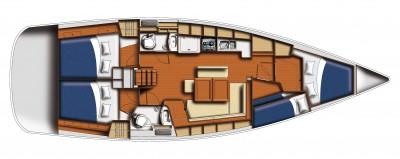 Beneteau 43.3 monohull bareboat layout