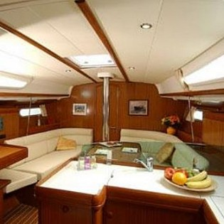 Salon - couch converts to a double berth