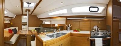 Full width yacht interior